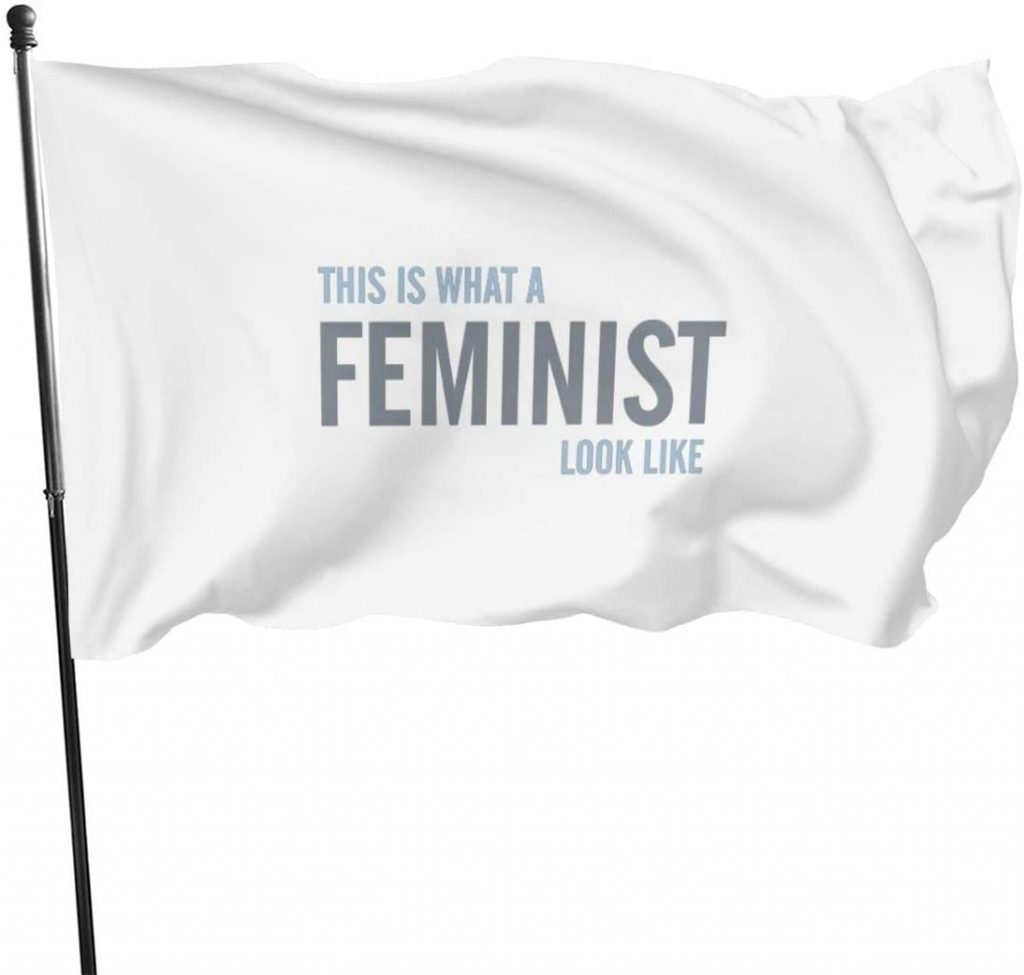 bandera feminismo mensaje