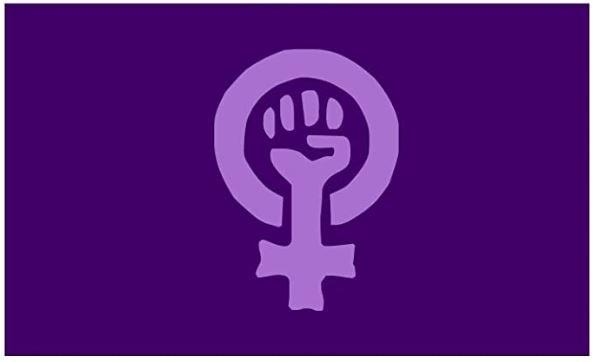 bandera feminismo morada