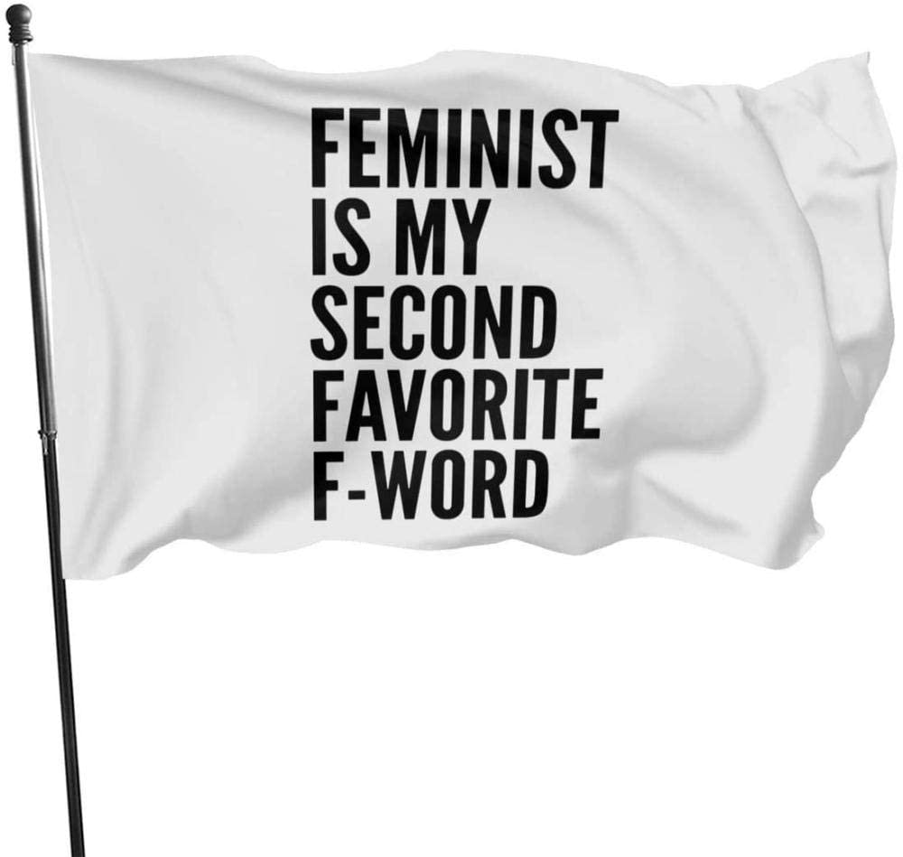 bandera feminismo con frase