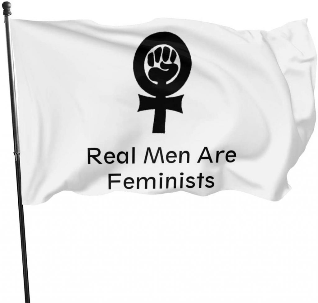 bandera los hombres de verdad son feministas