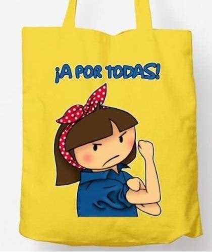 bolsa tela con mensaje feminista