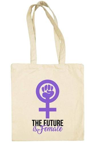 bolsa con símbolo feminista