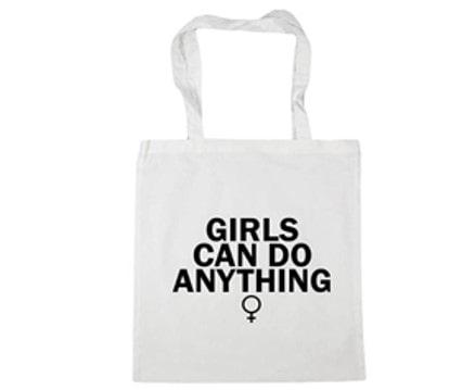 bolsa de tela feminista con mensaje