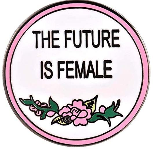 pin con simbolo feminista