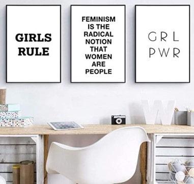 ofertas de artículos de decoración feminista