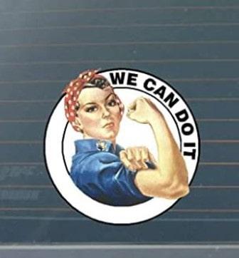 adhesivo feminista para coche