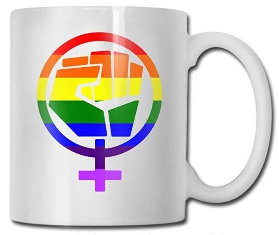 taza símbolo del feminismo
